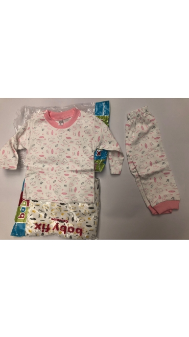 pijama fete si baieti 1-2 ani 3/set