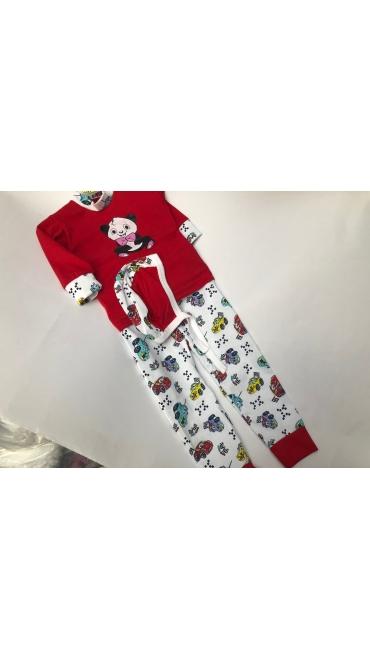 pijama imprimeu fete si baieti 1 an 4/set