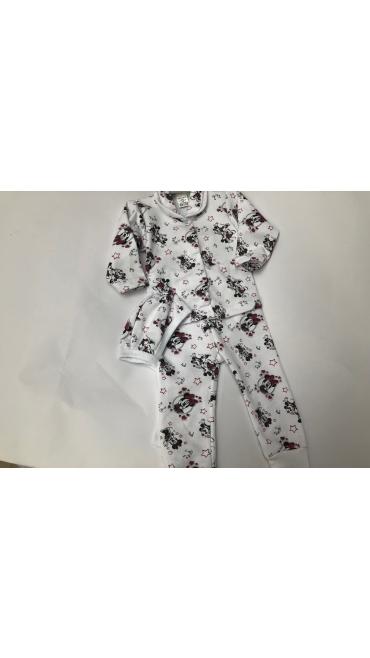 costum 3pcs pijama 0-1an 4/set