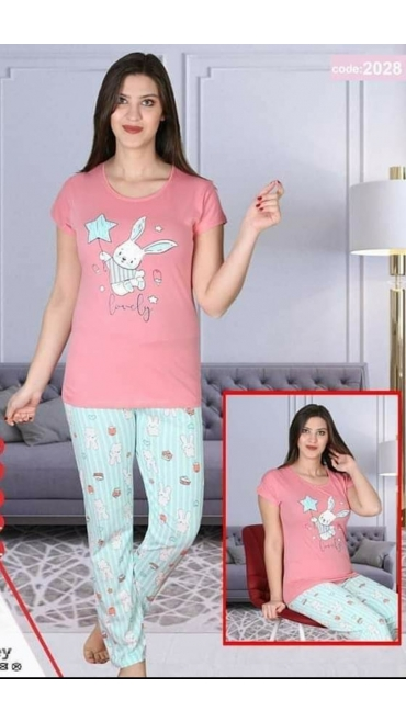 pijama dama Baki S-2xl 100%bumbac 5/set