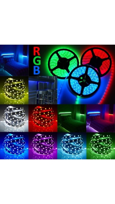 Banda LED RGB5050, Interior 60 LED-uri/m, telecomanda, CL5050