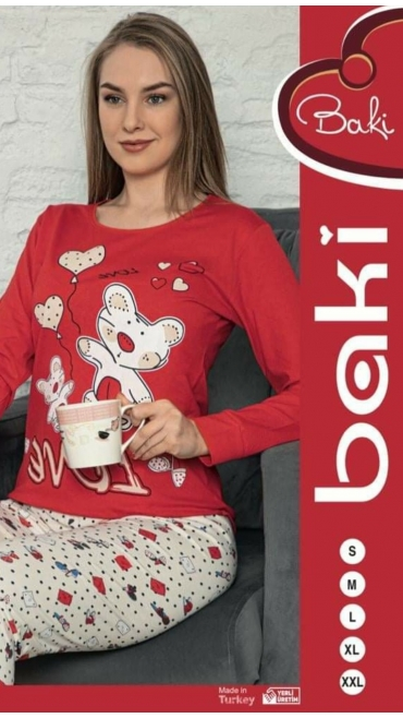pijama dama baki s-2xl 95% bbc 5% licra 5/set