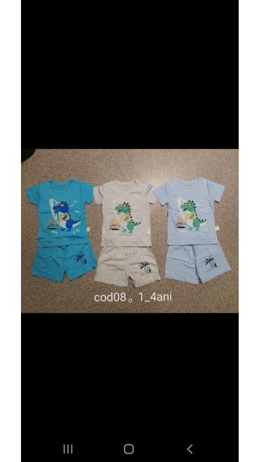 pijama copii 1-4 ani 4/set